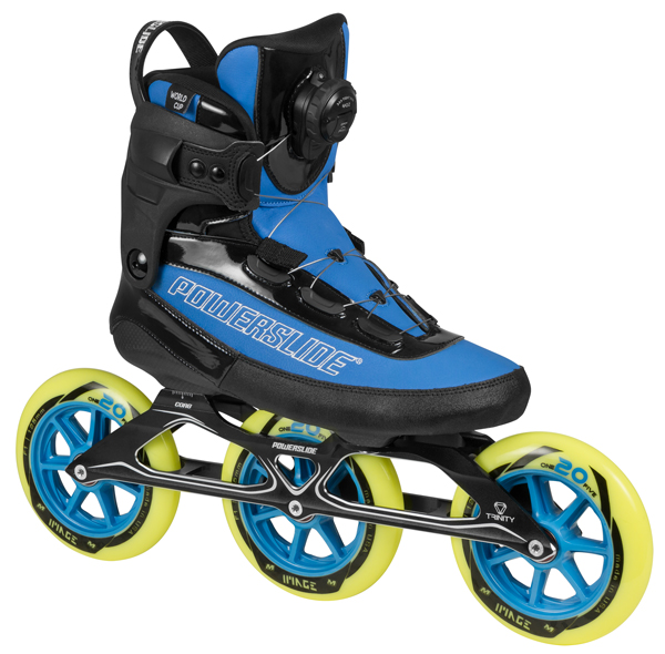 Powerslide World Cup Trinity Review: Powerslide World Cup Trinity Komplett Speed Skates 125mm